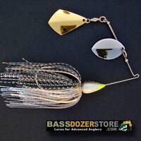 Bassdozer spinnerbaits ROYAL OKLAHOMA BULLET 1/2 oz BLACK SILVER #2 spinner bait