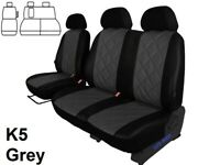 FORD TRANSIT MK8 2016 2017 2018 2019 ECO LEATHER EMBOSSED TAILORED SEAT COVERS