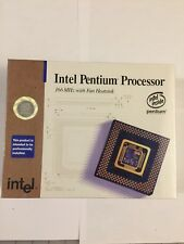 "NEW VINTAGE RARE INTEL PENTIUM 166 MHZ CPU ""NEW SEALDED""  #EBOXBP80502-166"