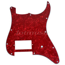 Guitar Pickguard Single Humbucker For Fender Strat Replacement Red Pearl 3 ply