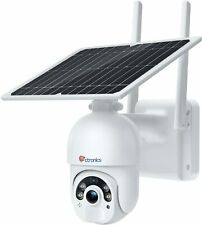 Überwachungskamera Aussen 15000mAh Akku, Kabellos PTZ Kamera mit Solarpanel