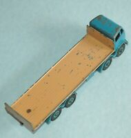 DINKY Meccano England rare 1957 FODEN TAILBOARD light blue fawn riveted #903