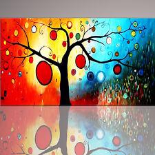 QUADRI MODERNI ASTRATTO l'albero della vita DIPINTI A MANO OLIO SU TELA PEINTURA