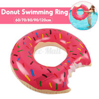 Kids/Adult Donut Swimming Ring PVC Giant Inflatable Circle Beach Party Float