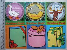 Aufkleber Sticker - Walt Disney Productions - Frohes Fest Sticker (1778)