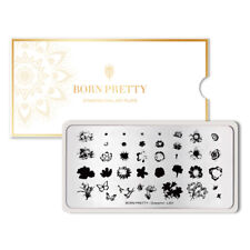 BORN PRETTY Nail Stamping Plates Flower Butterfly Nail Art Plate Overprint-L001