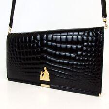 Authentic LANVIN Embossing Shoulder Bag Enamel leather[Used]