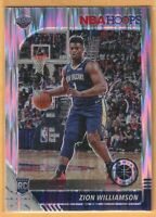2019-20 NBA Hoops Premium Stock Zion Williamson Flash Prizm Rookie Card RC #258