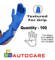 100 x EXTRA LARGE Tough Blue Nitrile STRONG Tattoo Mechanic Disposable Gloves XL