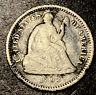 1862 Seated Liberty Silver Half Dime 5c Civil War Date High Grade Details Filler