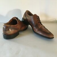 Mens ECCO Lace Up Shoes Size 46 EU 12 - 12.5 US Brown Distressed Leather