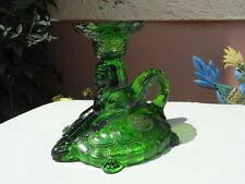 seltene Vallerysthal Le Cristal Kerzenständer Schildkröte + Sphinx Kerzenhalter