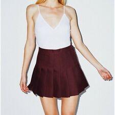 American Apparel Womens' Tennis Gabardine Skirt, Truffle, RSAGB300W