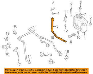 BMW OEM 01-03 530i Washer-Windshield-Filler Pipe 61607038436