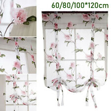 Home Kitchen Window Curtain Tie Up Roman Sheer For Bath Balcony Living Room Use