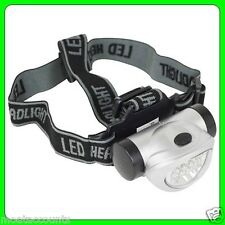 8 LED Head Lamp Torch [SWLR12] Lightweight, Water Resistant, 4 Function