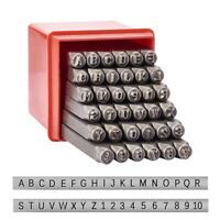 36pc/Box Iron Metal Alphabet & Numbers Seal Stamps Mini Letters Punches Mark 4mm
