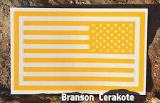 Reverse American Flag Stencil, High Heat Vinyl, Gun Rifle Firearm Cerakote
