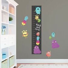 Personalised Cute Monsters Critters Height Growth Chart 8 Vinyl Wall Stickers