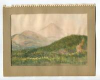 VINTAGE 1930's MOUNT ONTARIO MCKENNA'S ORCHARD CA LANDSCAPE MOUNTAINS PAINTING
