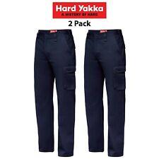 2x Hard Yakka Generation Y Gen Y Work Pants Cotton Drill Cargo Y02500 Workwear