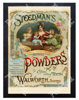 Historic Steedman's Soothing Powders for Cutting Teeth Advertising Postcard