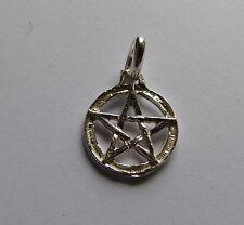 Piccola STELLA- pentagramma pentacolo con contorno ciondolo in Argento 925