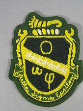 Vintage Wool Felt Letter Jacket Patch for Delta Sigma Epsilon Fraternity