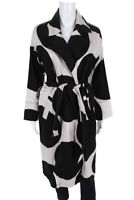 Bitte Kai Rand Womens Polka Dot Belted Collared Long Jacket Black White Size XS