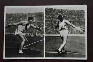 Germany Berlin 1936 Olympic Games Athletics postcard card postmark Carpenter USA