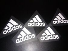 ADIDAS IRON ON LOGO X 5 WHITE 5CM SIZE