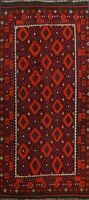 Geometric Reversible Kilim South-western Hand-woven Area Rug Wool Carpet 8x14 ft