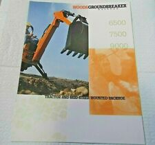 Factory 199 Woods Groundbreaker Backhoe Dealership Specs Brochure Manual