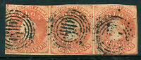 CHILE Yvert # 5 - SOFICH 9 Strip of 3 Used VF