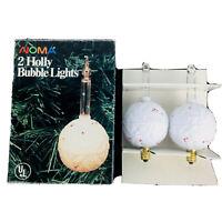 2 Vintage Noma Christmas Bubble Lights HOLLY BALL Original Box