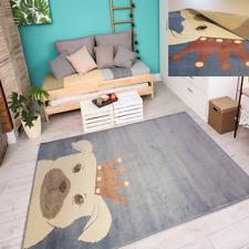 Teppich Sehr Edel und Seidiger Glanz Hell-Dunkel Effekt Hundeliebhaber Azurblau