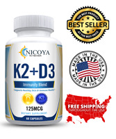 Vitamin K2 D3 Vitamin Supplement with BioPerine, Boost Immunity & Heart Health