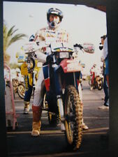 Photo El Charro Honda Elf Team  #1 Gilles Lalay (FRA) Atlas Rallye 1987 (MAR) 3x