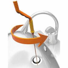 Slim Drain Anti-Clog Weasel Hair Removal Tool Flexible Twist Wand Sink & Bathtub