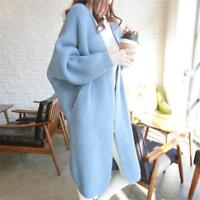 New Women Loose Knitted Sweater Batwing Sleeve Tops Cardigan Outwear Casual Coat