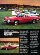 1987 Jaguar XJ-S XJS Convertible 1988  Vintage Advertisement Car Print Ad J395