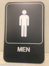 NEW Restroom / Bathroom Braille 3D Tactile Men / Men's 6 x 9 Gray / Grey