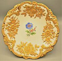 Antique Meissen Original Floral Décor Gilded Gold Centerpiece Serving Plate Bowl