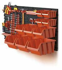 Set of Plastic Storage Picking Bins Workshop Garage Box and 2 Tool Mounting Set