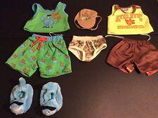 Build a Bear Dinosaur Outfits Slippers Pajamas Underwear Hat Shorts Shirt Lot