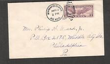 1931 air mail cover Mrs C D Hayden Minneapolis to Philip H Ward JR Philadelphia