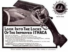 1909 Vintage ad Ithaca Shotguns Cut away photo.