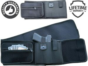 Tactical Belly Band Holster Concealed Hand Gun Carry Pistol Waist Hidden Belt US