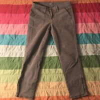 J Brand Olive Green Skinny Crop Ankle Zip Pants Size 26 A1370