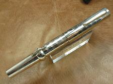 Conklin Mark Twain Sterling Silver Crescent Fountain Pen 14K 'M' Gold Nib New
